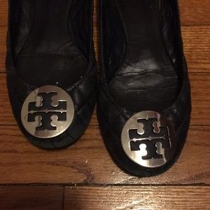 Quilted Tory Burch Riva flat